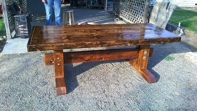 My first rustic table
