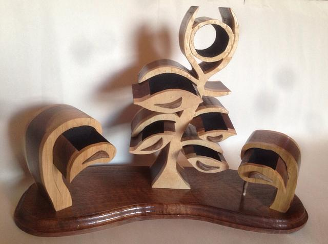 Flower bandsaw boxes