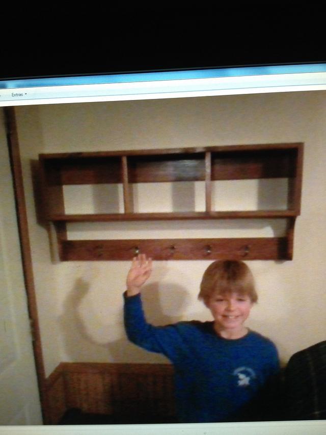 Coat & hat rack my son & I built