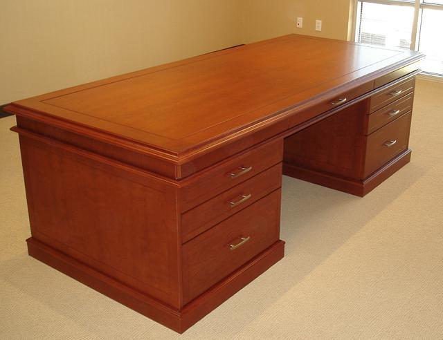 Cherry Desk and Credenza