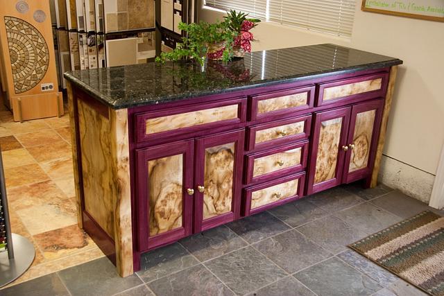 Oregon Myrtlewood & Purple heart buffet