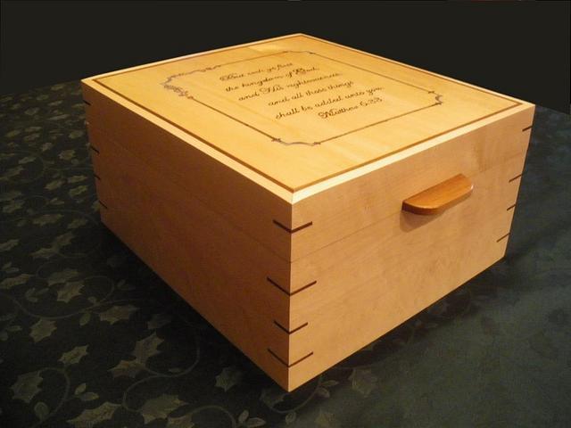 Birdseye Maple and Walnut wedding photo box