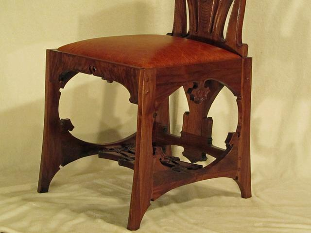 Charles Rohlfs Tall Back Chair
