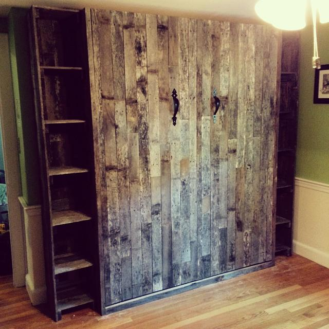 Pallet Wood Murphy Bed - Woodworking Project by murphybedbuilder1