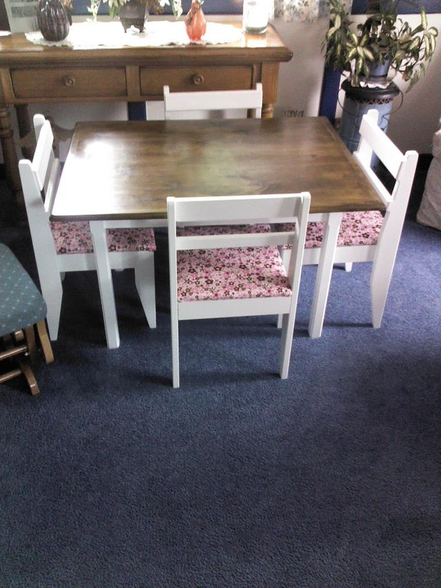 Child's table and chair set.