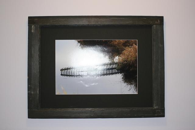 Old Window Frame Turned Picture Frame