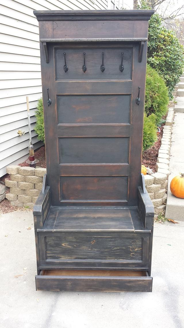 Entryway bench - Woodworking Project by Nate Ramey