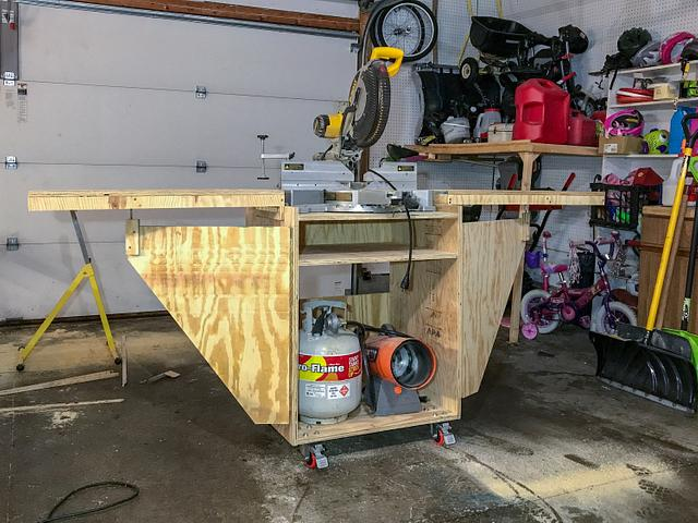 Collapsible Miter Saw Stand - Woodworking Project by horstbc