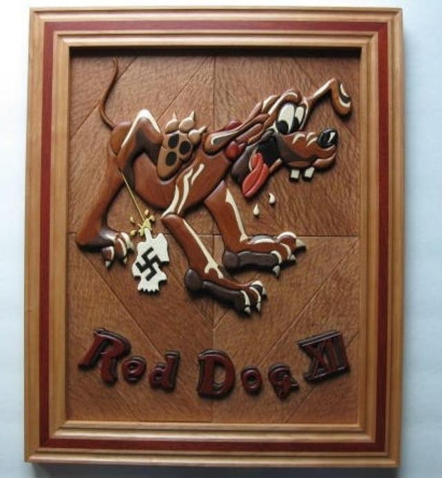Red Dog Intarsia