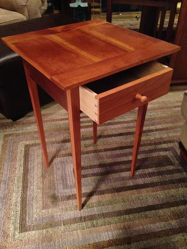Little Shaker Table - Fully tapered Legs Cherry