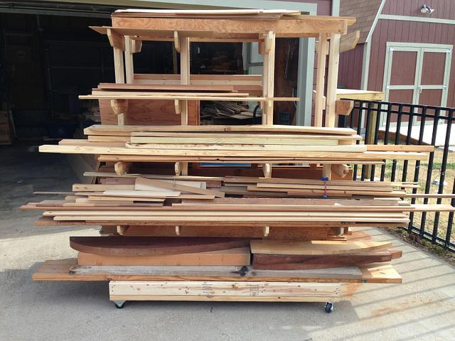 Mobil Lumber Rack