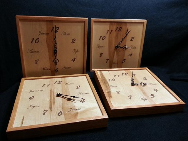 Clocks (Grandkids names)