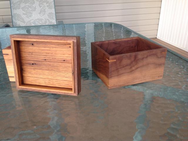 A couple boxes