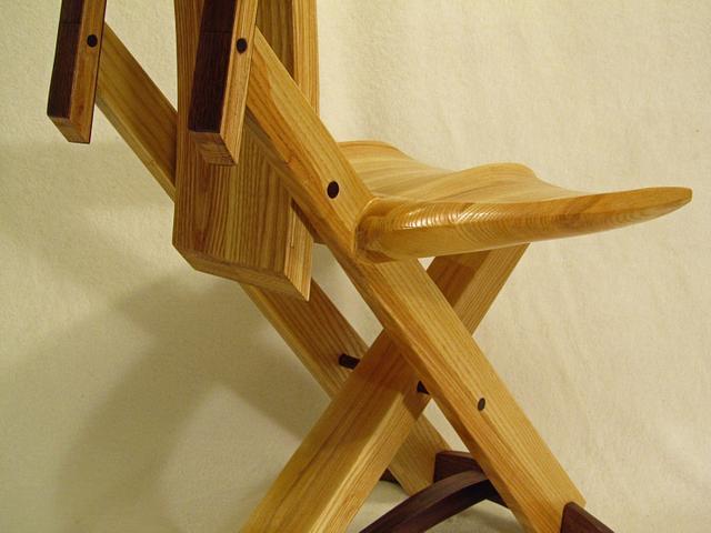 Ash amd Walnut Three Leg Chair - Woodworking Project by Woodbridge