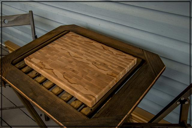 Maple End Grain Cutting Board - Woodworking Project by Railway Junk Creations