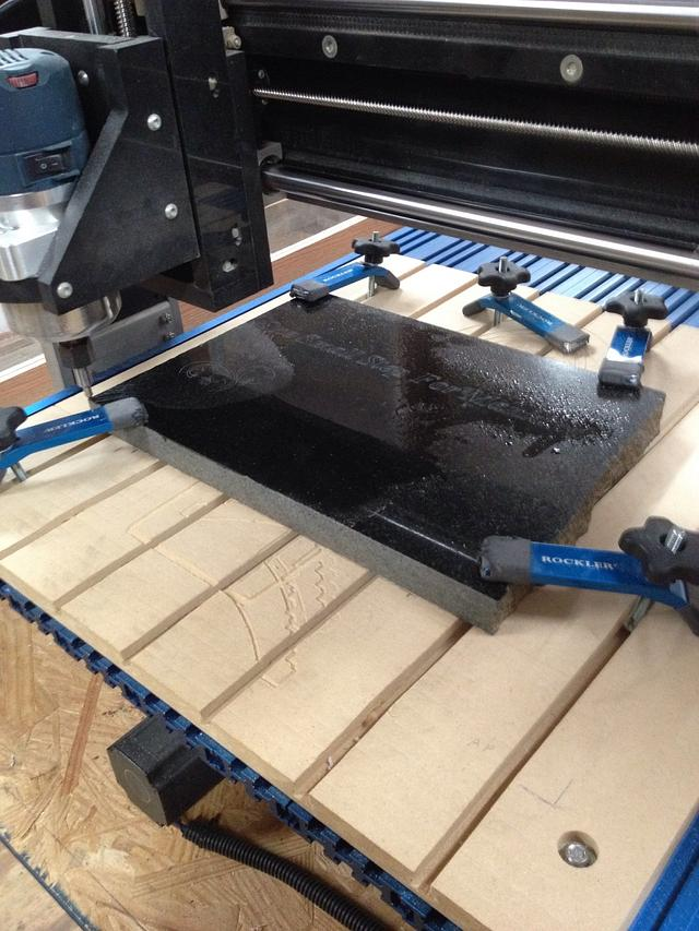 Granite engraving
