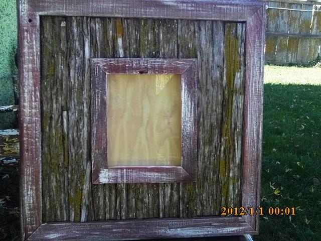 tree bark picture frame