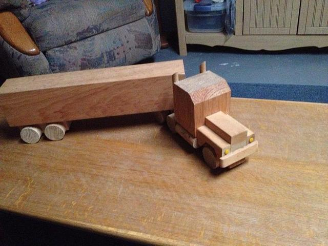 Trailer Truck toys & Cribbage Boards