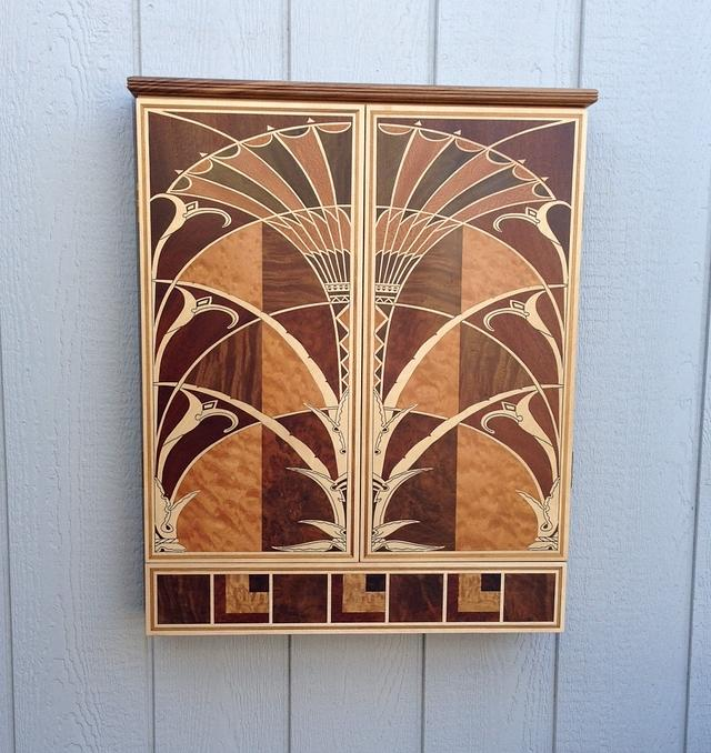 Dart Board Cabinet - Woodworking Project by Terry