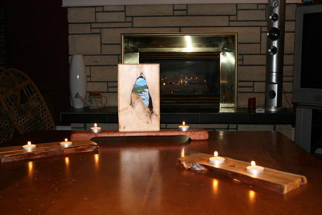 Natural Picture Frame and Candle Holder