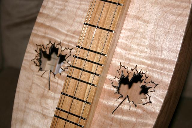 Curly Maple Mountain Dulcimer-Electric
