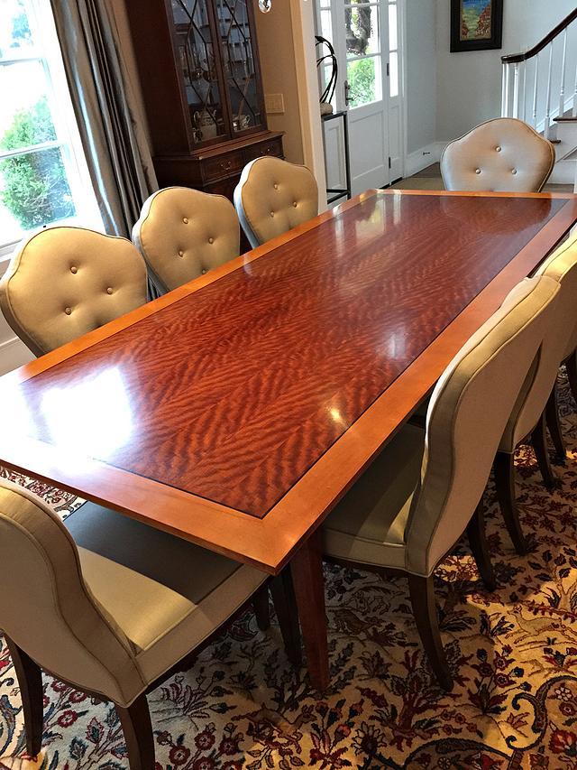 Makore Table Enlarged