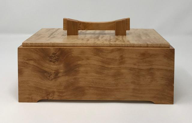 Figured Cherry with Maple and Walnut Keepsake Boxes - Woodworking Project by kdc68