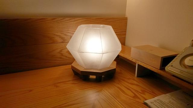 Pallet wood and acrylic table lamp
