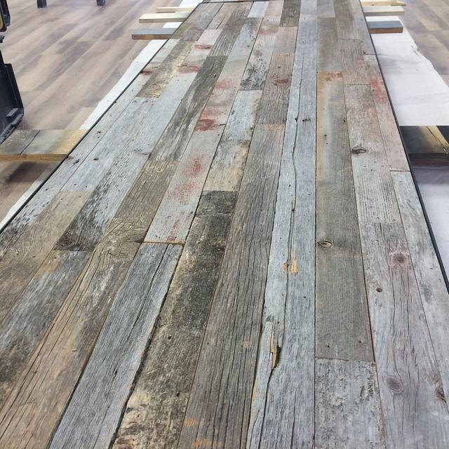 Barn Wood Countertops - Woodworking Project by GLWC
