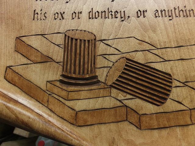Wooden scroll