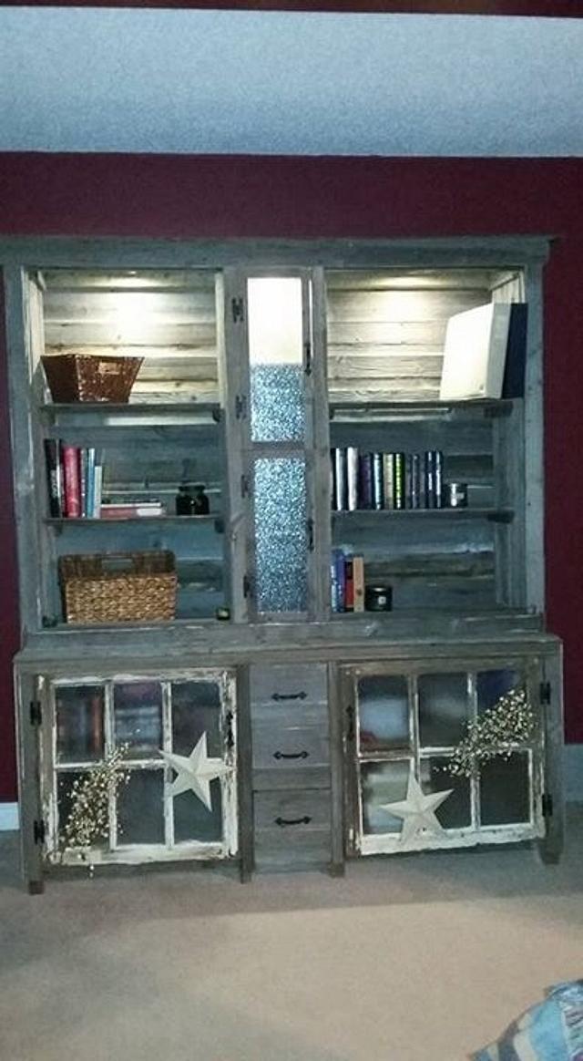 Barnwood cabinet