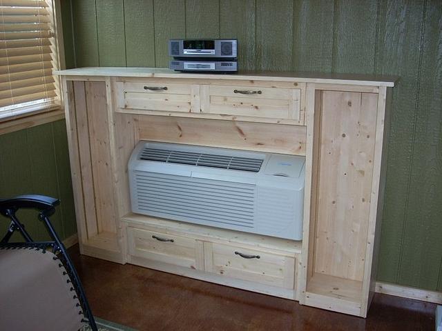 HVAC Unit Surround:  Display and Storage Cabinet