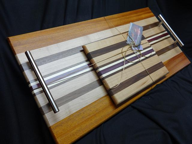 A Serving Tray with Matching Cheese Board