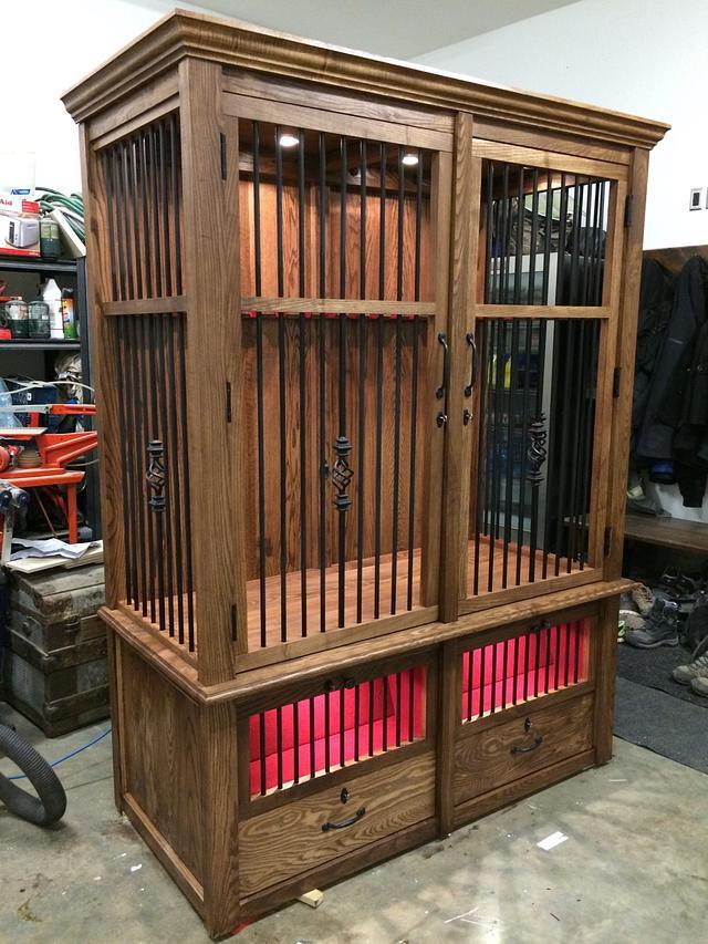Rifle/hand gun cabinet