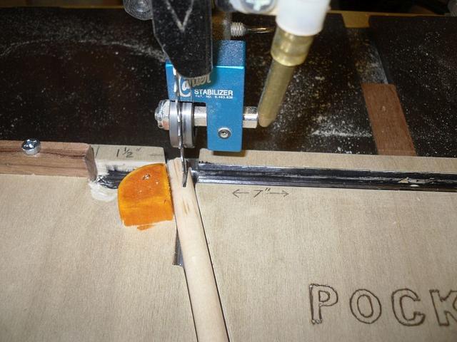 Band Saw Pocket Hole Plug Cutting Jig