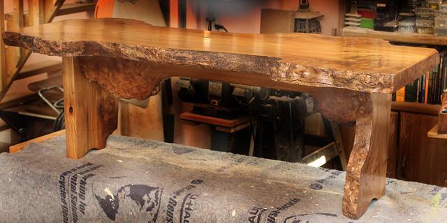 English Wych Elm Coffee Table