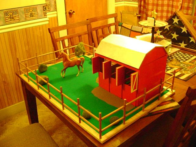 Minature horse barn