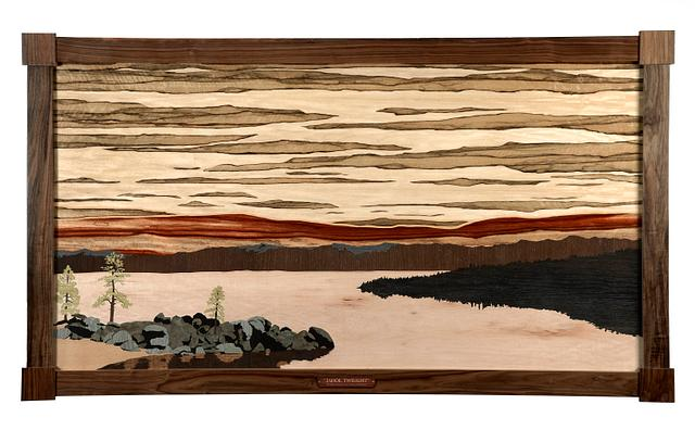 """""""Tahoe Twilight""""  6' x 42"""" - Woodworking Project by CindyG"""