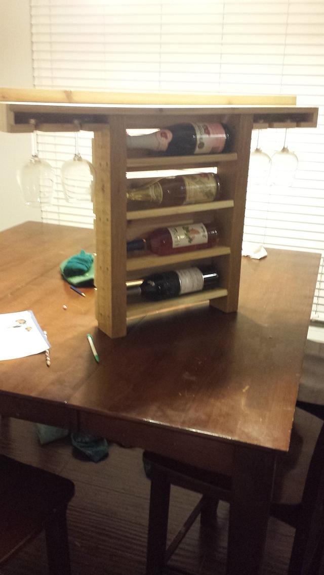 A couple wine racks