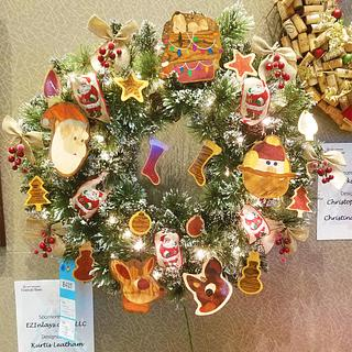 Festival of Trees Wreath Donation - Woodworking Project by EZInlays
