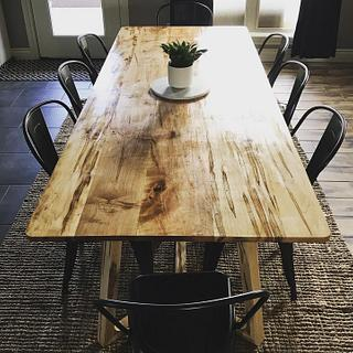 Ambrosia Maple Dining Table - Cake by Okie Craftsman