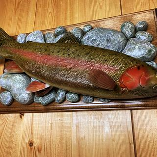 Carved Rainbow Trout - Project by Danny Cowan