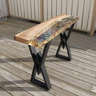 River Rock Console Table - Project by scorpionwerx