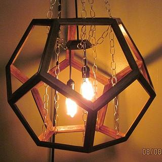 Dodecahedron Hanging lamp - Project by papadan