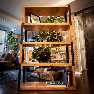 Budget Industrial Bookcase - Project by ZacBuilds