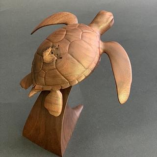 Green sea turtle - Cake by Woodsculptor
