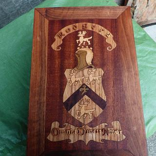 Coat of Arms Marquetry Box - Cake by Celticscroller