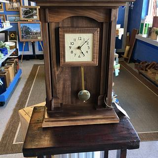 Walnut Mantle Clock - Cake by James Tillman