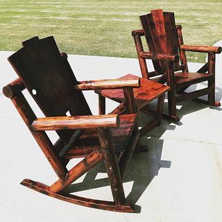 Adirondack/Farmhouse Rocking Chairs - Cake by Okie Craftsman