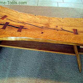 Live Edge River Legged  Coffee Table  - Project by swirt